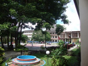Blik op campus UKIM jan 2016